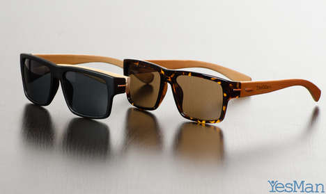 Affordable Arboreal Shades - The Yes Man Sunglasses are Handcrafted from Handpicked Bamboo