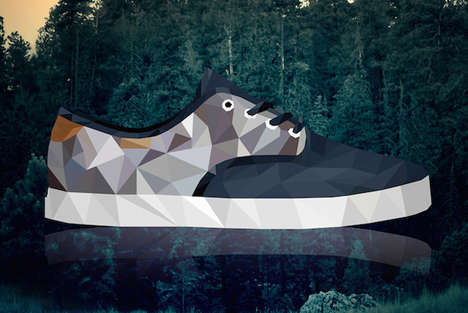 Modular Sneaker Illustrations - Matesz Wojcik Turns Popular Sneaker Designs into Geometric Images