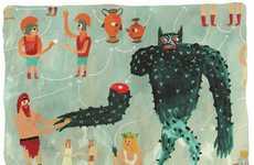 Eccentric Wiccan Illustrations - Nicholas Stevenson's Illustrations are Downright Magical