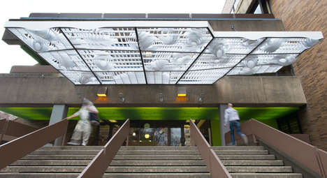 Light-Filtering Architecture - This Entrium Cloud Canopy Filters Daylight and Engages Passers-By