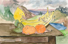 Cheeky Fruit Paintings - Amelie von Wulffen Creates Saucy Scenes with Fruit