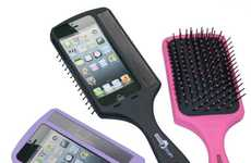 Hairbrush Handle Phone Cases - The Selfie Brush Makes Your Phone Easier to Hold for Self-Portraits