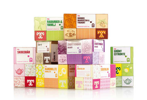 Quilted Tea Packaging - ICA Looks to Handicrafts for Tea Packaging Ideas