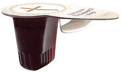 Pre-Packaged Communion Cups - This Ergonomic Design Makes Wine and Bread Passing Less Complicated