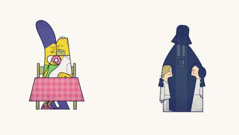 Pop Culture Couple Illustrations - Artist Ale Giorgini's Drawings are Minimalist and Geometrical
