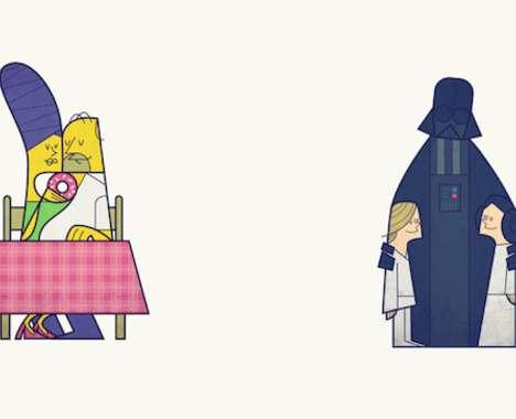 Pop Culture Couple Illustrations