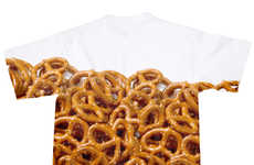 Snack-Obsessed T-Shirt Apparel - This Pretzel Tee from Shelfies Celebrates Salty Junk Food