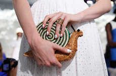 Picnic Perfect Handbags - These Critter-Heay Kate Spade Clutches Incorporate a Garden Party Theme