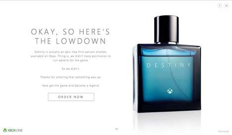 Faux Fragrance Ads - Xbox's Destiny Game Ad is Disguised to Look Like One for Perfume