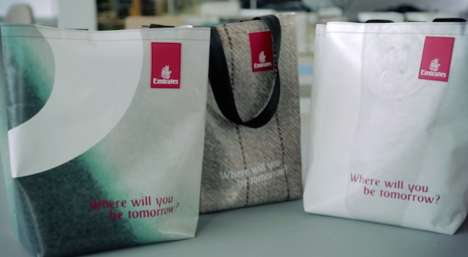 Upcycled Banner Bags - Emirates Turns an Old Advertisement into Eco Shopping Bags