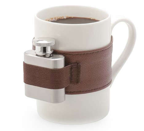 Flask-Attached Mugs - The Perpetual Kid Extra Shot Coffee Mug Makes Your Morning Cup Extra Hip