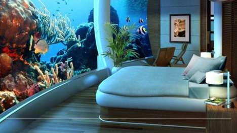 Submerged Luxury Homes - H2OME Offers Luxury Living Space Under the Ocean