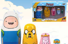 Adventurous Nesting Dolls - These Adventure Time Toys are Re-Imagined Matryoshka Wooden Dools