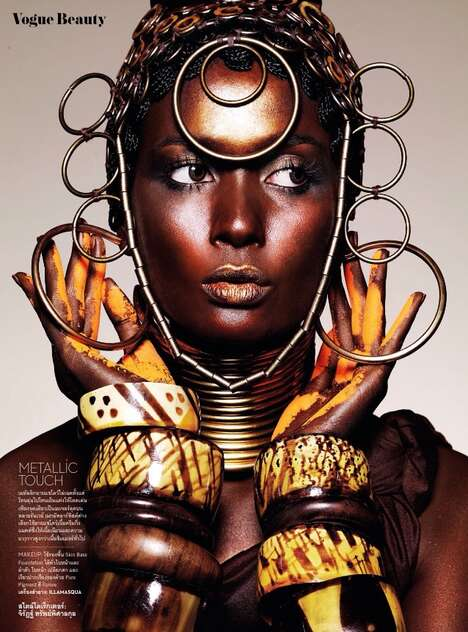 Cultural Opulence Editorials - Nat Prakobsantisuk's Colour Major Story Boasts Ethnic Beauty Looks