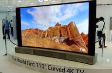 Massive Curved TVs - The China Star Curved Ultra-HED TV is the World's First Curved 110-Inch UHD TV