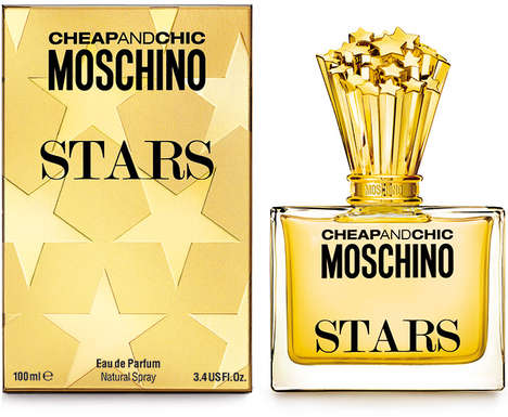 Trophy-Themed Fragrance Branding - The Moschino Cheap and Chic Stars Perfume is Iconography-Adorned