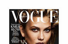 Metallic Supermodel Editorials - Karlie Kloss Takes the Cover of the New Issue of Vogue Netherlands