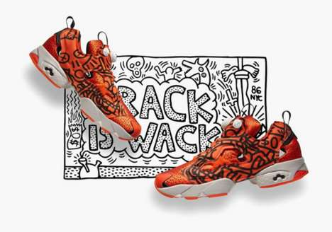 Street Art Shoes - The Keith Haring x Reebok 'Crack is Wack' Collection is Vividly Artistic