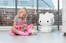 Feline Character Lights - This Hello Kitty Lamp Stylishly Glows Bright Colors