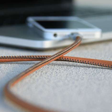 Leather Charging Cables - This Luxurious iPhone Charger is Sure to Stand the Test of Time