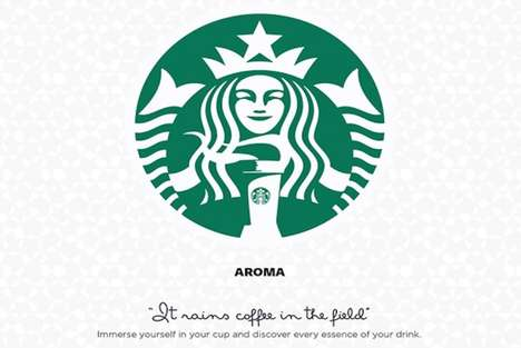 Coffee Culture Logos - Alejo Malia Adds Playful Details to the Starbucks Logo Design