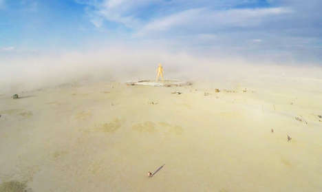 Aerial Festival Photography - These Burning Man Shots Were Captured By a Drone