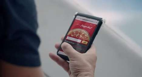 Digital Pizza Payments - The Pizza Hut and Visa Checkout Lets Consumers Purchase Pizzas Virtually
