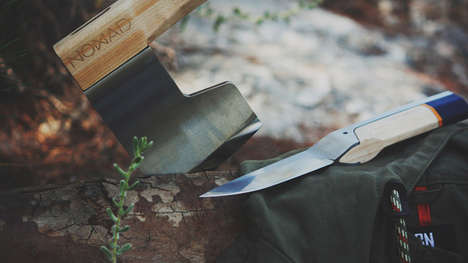 Dapper Camping Tools - The 'Nomad' Hatchet and Knife Set Blends Functionality and Style