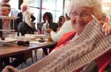 Close-Knit Community Brands - Granny's Finest Community Knitting Project Creatively Bridges Age Gaps