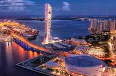 Terrifying Observation Towers - SkyRise Miami Will Host a Number of Terrifying Rides