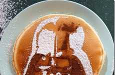 Playful Pancake Stencils - Artist  Nathan Shields Provides Template to Make Artistic Breakfasts