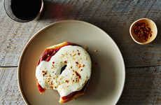 Breakfast Pizza Bagels - This Delicious Breakfast Meal is Inspired by Cheesy Slices of Pizza