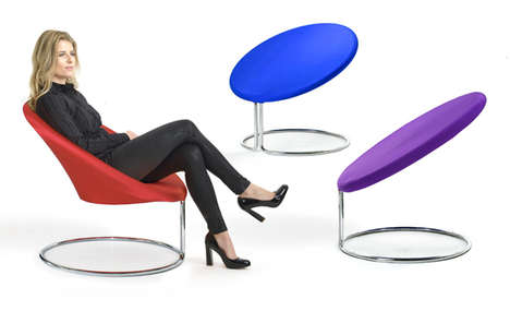 Vibrant Geometric Seating - D-Tec Rethinks Traditional Chairs for Trampoline-Like Designs