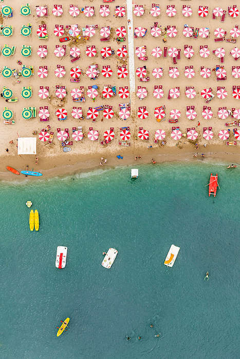 Aerial Beach Photography - Bernhard Lang Captures a Bird's Eye First of the Adriatic Coastline