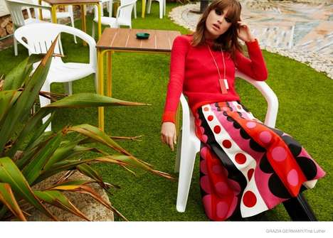 Stylish Mod Fashion - Sophie Vlaming Channels a Retro Vibe for Grazia Germany