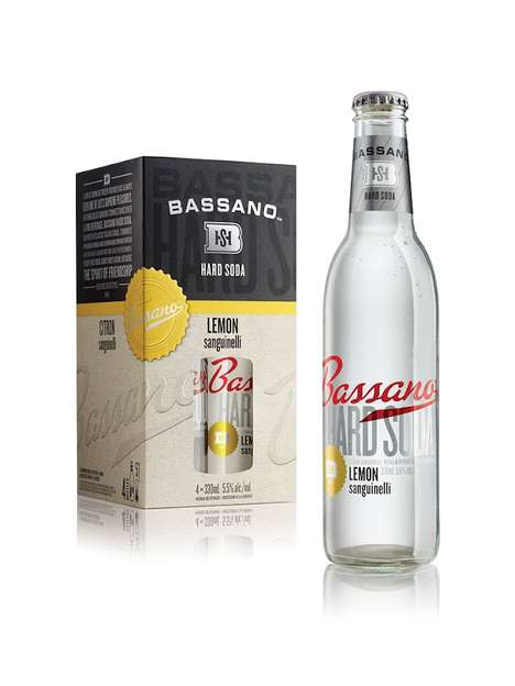 Spiked Fruity Sodas - Bassano Hard Soda is a Ready-to-Drink Vodka Soda Beverage
