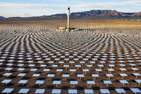 Simulated Solar Installations - The Solar Reserve Installation Mimics a Massive Solar-Powered Tower