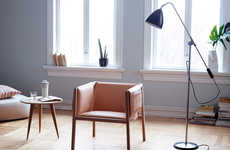Draped Pocket Chairs - The Saddle Chair Features an Understated Compartments