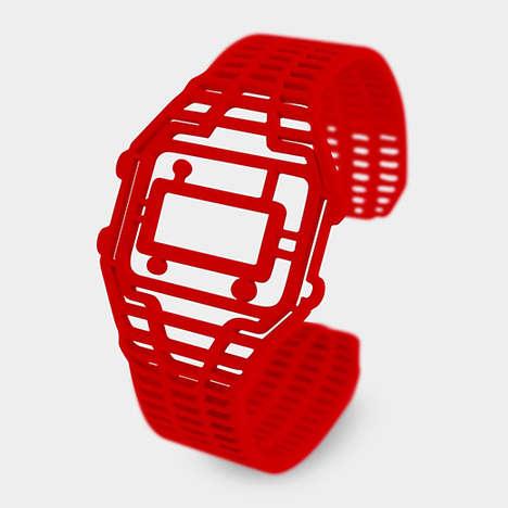 Faux Wristwatch Accessories - Denise J. Reytan's Timepeace Bracelet is a Standalone Statement Pieces