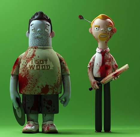 Movie Character Vinyl Toys - The Cornetto Trilogy is Immortalized as a Pop Culture Memorabilia