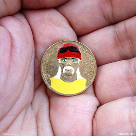 Pop Culture Coin Illustrations - The Tales You Lose Blog Features Illustrative Coin Characters