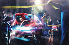 Drunk Driving Superhero Ads - Fabio Obando's Ads Feature Intoxicated Superheroes Behind the Wheel