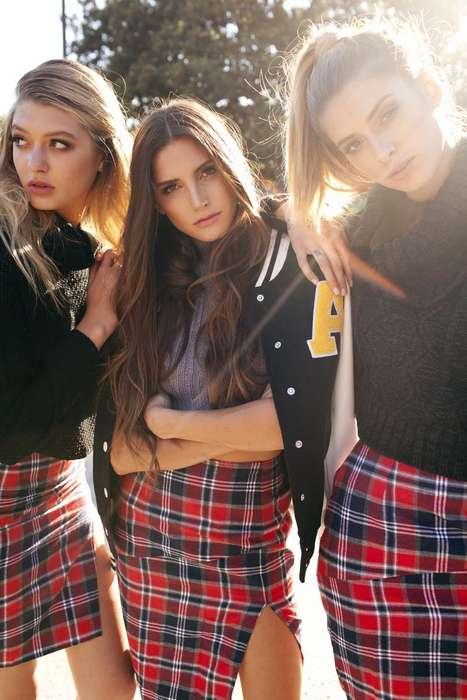 Seductive Collegiate Lookbooks - The Latest Gypsum Lookbook Goes Back to School