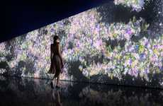 Interactive Floral Walls - Gucci's Infinity of Flowers Lets Shoppers Interact with Digital Petals