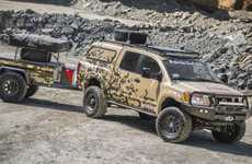 Crowdsourced Custom Trucks - The Nissan Project Titan Truck is a Rugged, Military-Style Vehicle