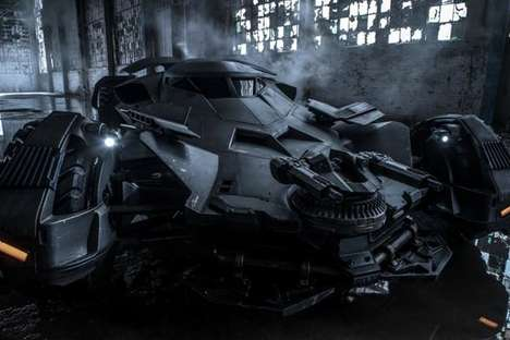 Superhero Vehicle Makeovers - The Batman vs Superman Batmobile is Angular and Flat