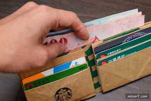This Durable Wallet Design is Made from an Upcycled Starbucks Paper Bag