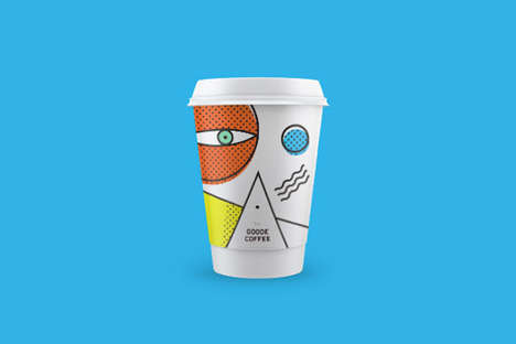 Abstract Coffee Cups - Goode Coffee's Artsy Coffee Cups Feature Energizing Patterns and Colors