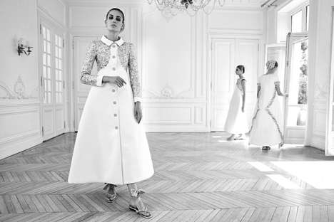 Ornate Old World Editorials - Nadja Bender Dons Chanel Couture in this Editorial for Vogue Italia