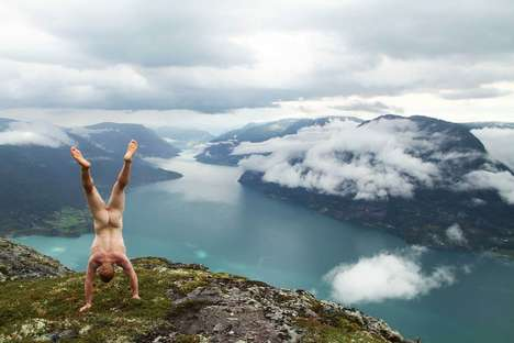 Naked Handstander Portraits - One Guy is Doing Naked Handstands Around the World for a Cause